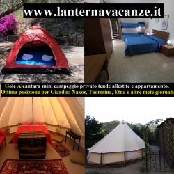Campeggio Gole Alcantara Mini Glamping Lanternavacanze